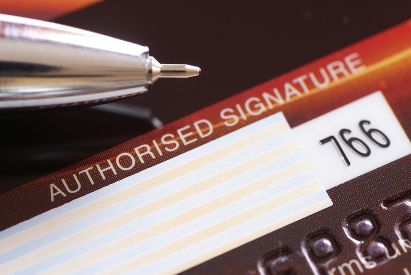 How valid are credit card signatures?