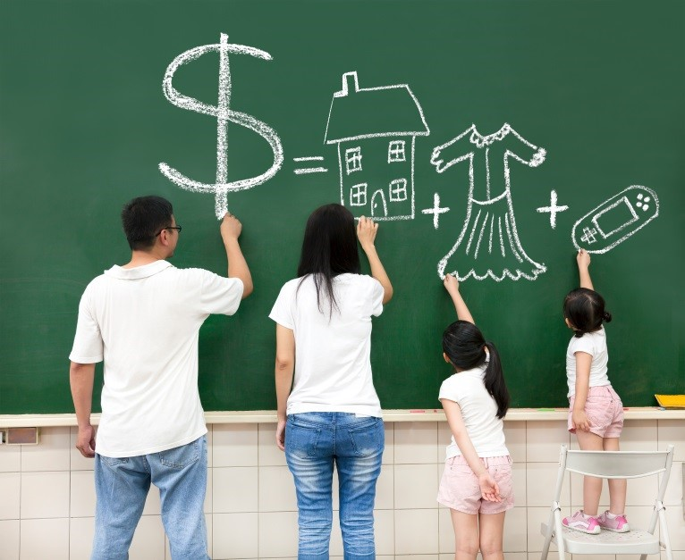 How can I save while providing for a family?